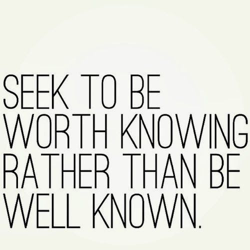 Seek to be…